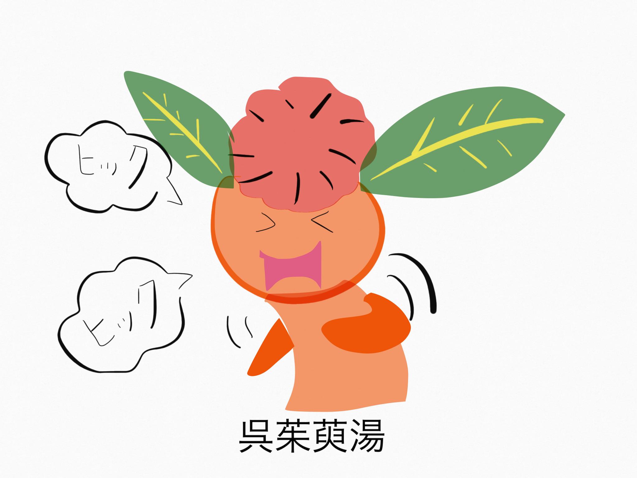 呉茱萸湯(ごしゅゆとう)[鎮痛]【漢方の覚え方】