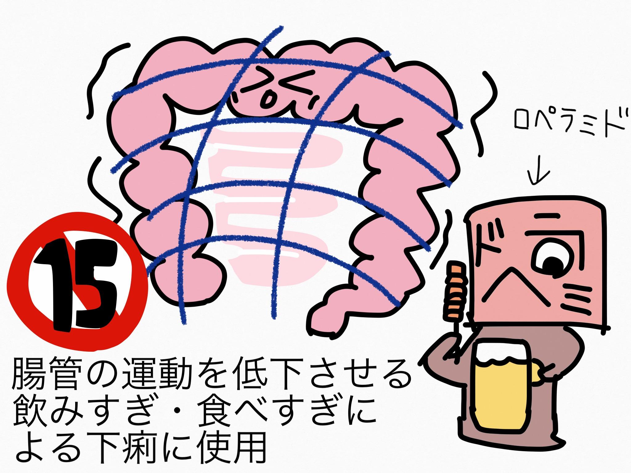 腸の薬の成分まとめ・覚え方③止瀉成分(腸管運動低下・吸着)