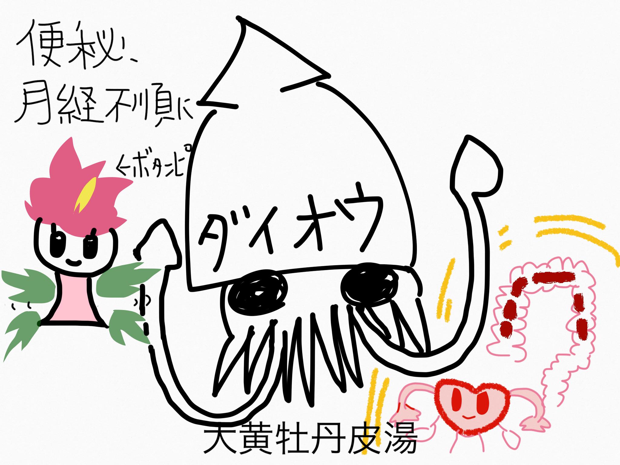 大黄牡丹皮湯(だいおうぼたんぴとう)[腸の不調、月経不順]【漢方の覚え方】