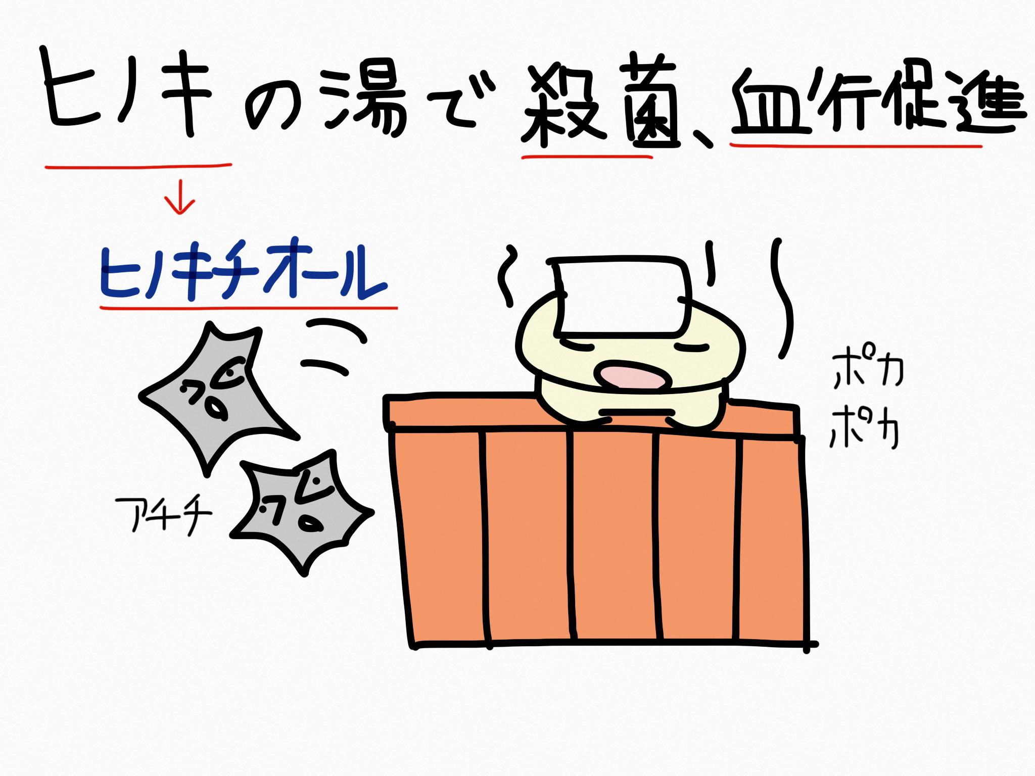 ヒノキチオール[毛髪用薬他]生薬の覚え方・暗記方法・語呂合わせ