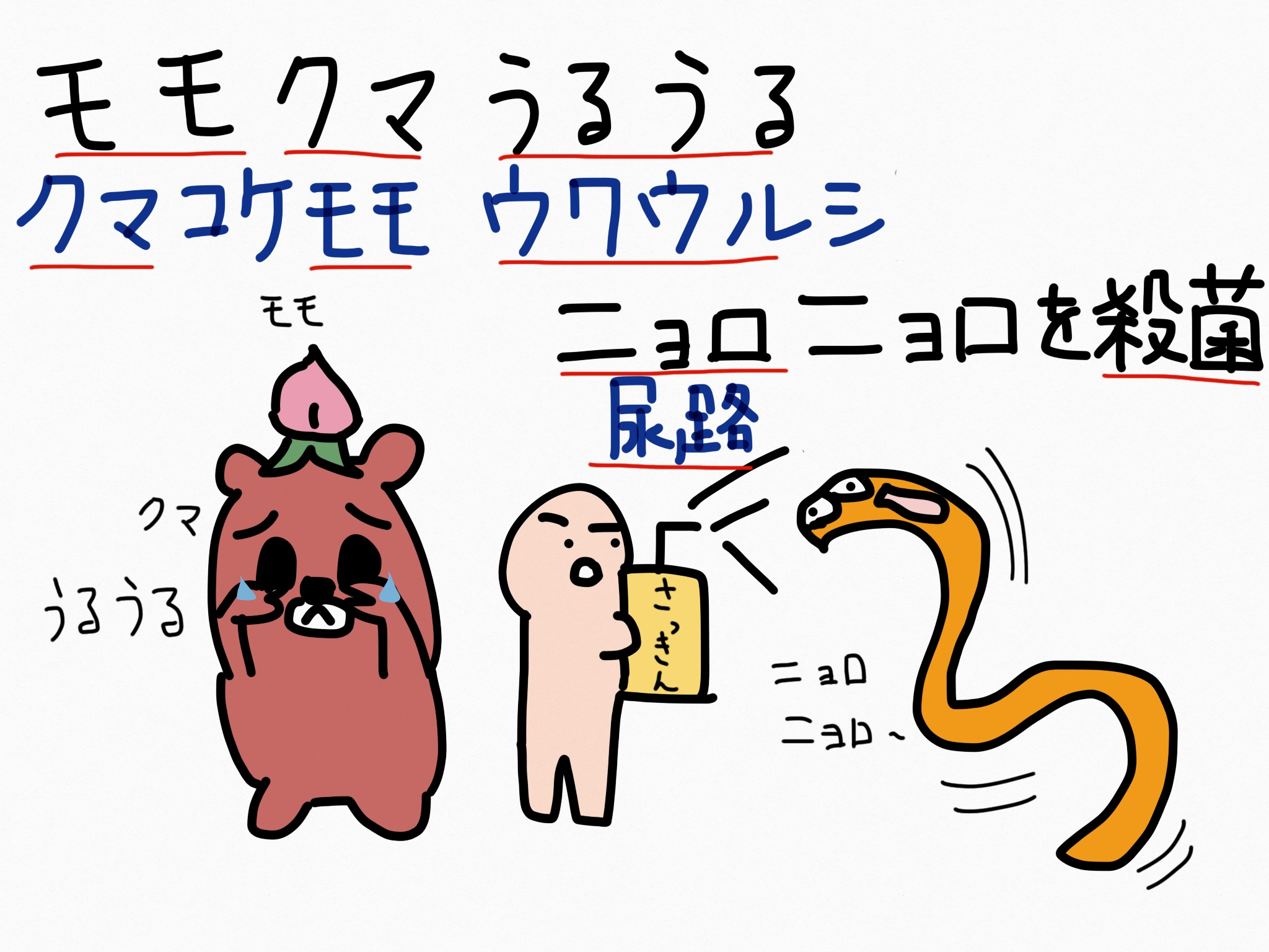 ウワウルシ[泌尿器用薬]生薬の覚え方・暗記方法・語呂合わせ