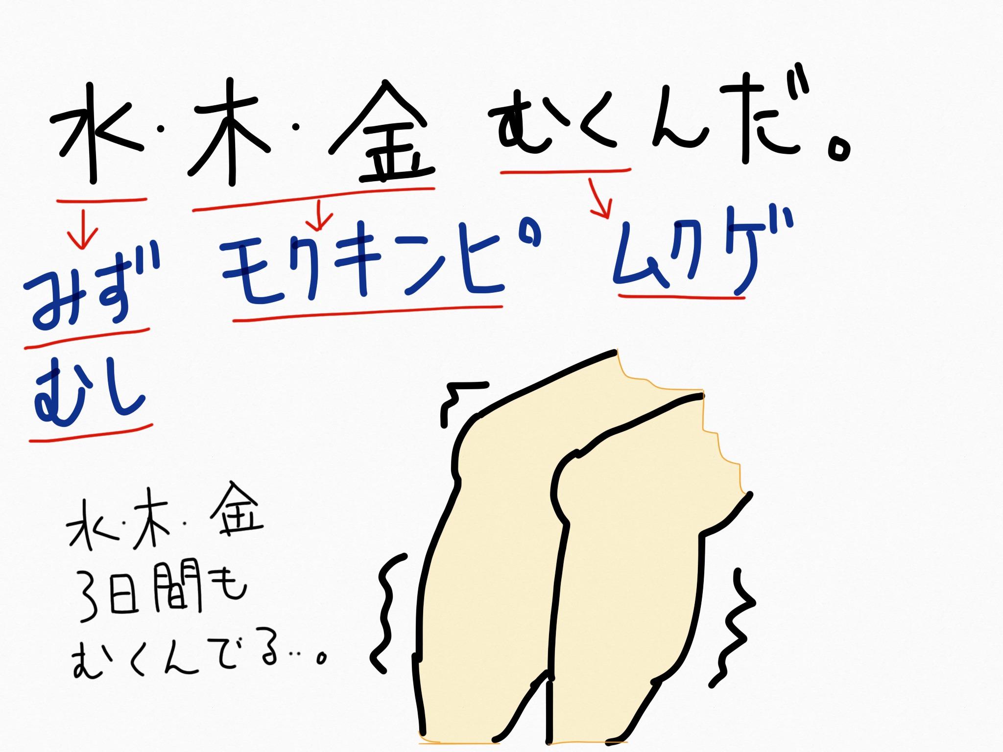 モクキンピ[外皮用薬]生薬の覚え方・暗記方法・語呂合わせ