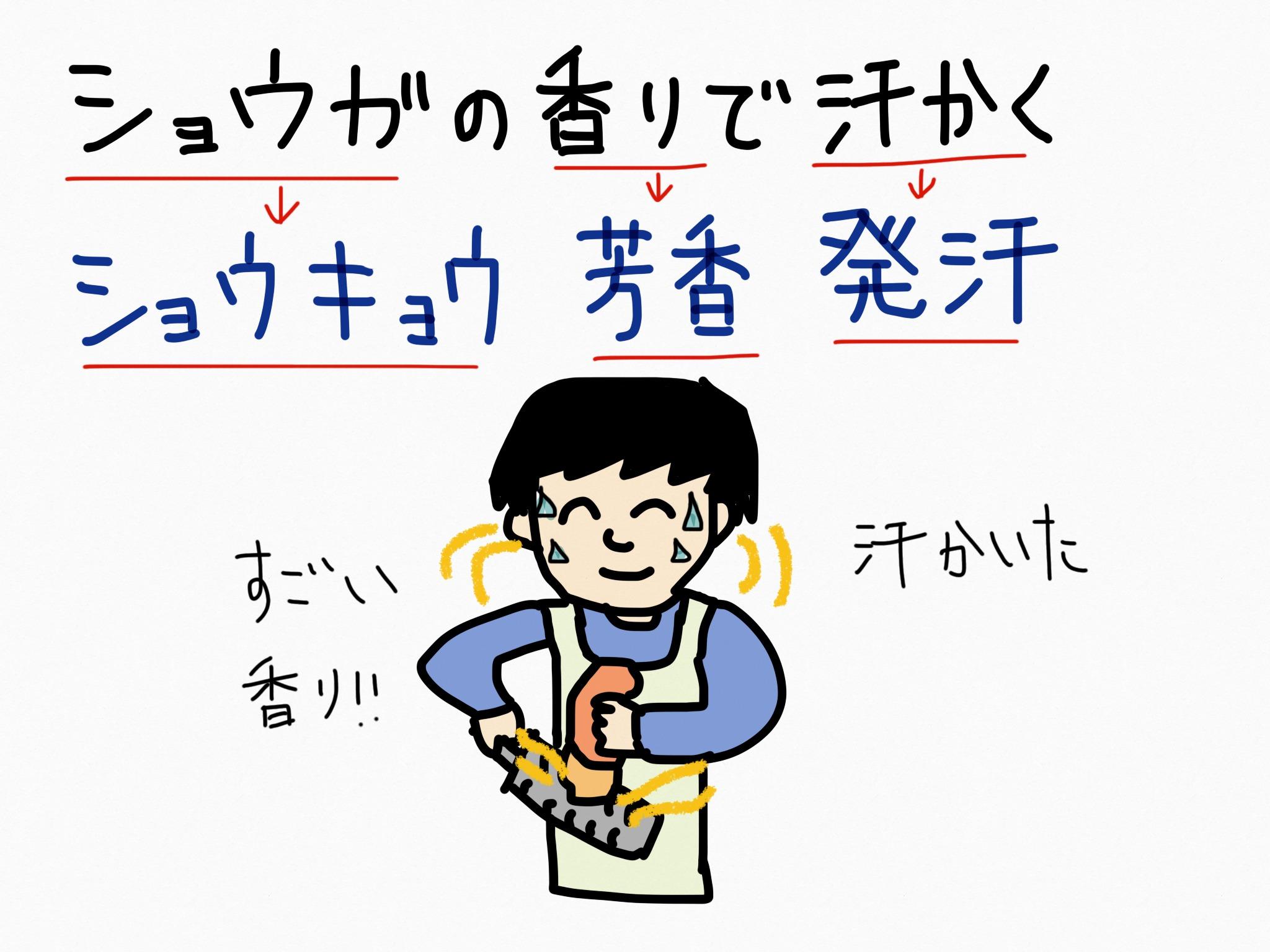 ショウキョウ[胃腸薬他]生薬の覚え方・暗記方法・語呂合わせ