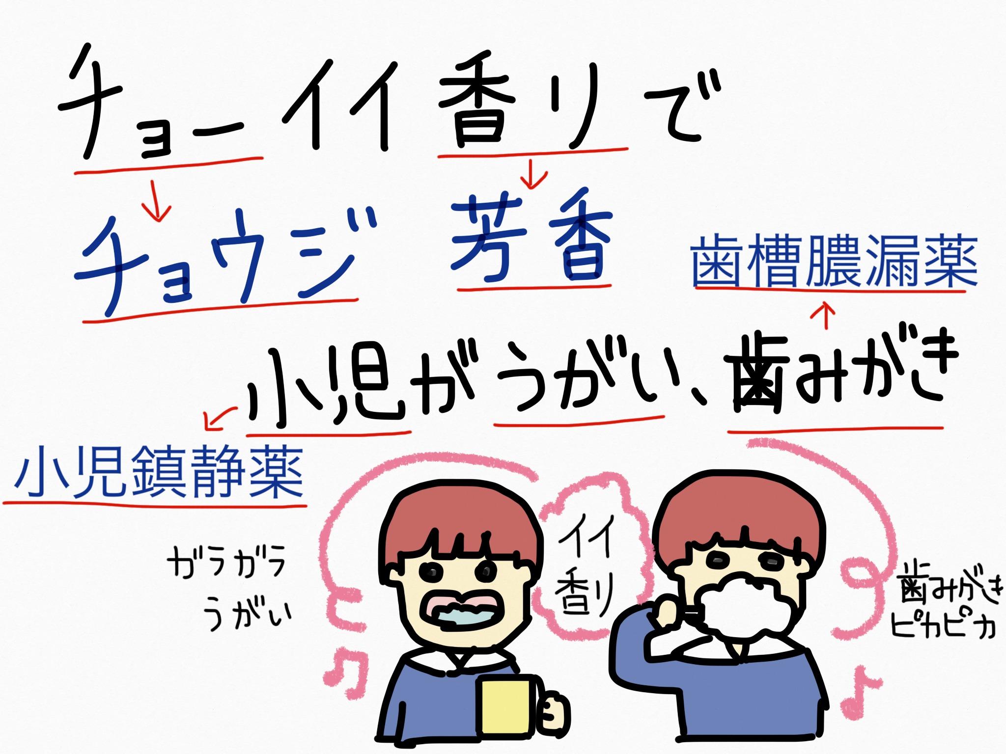 チョウジ[胃腸薬他]生薬の覚え方・暗記方法・語呂合わせ