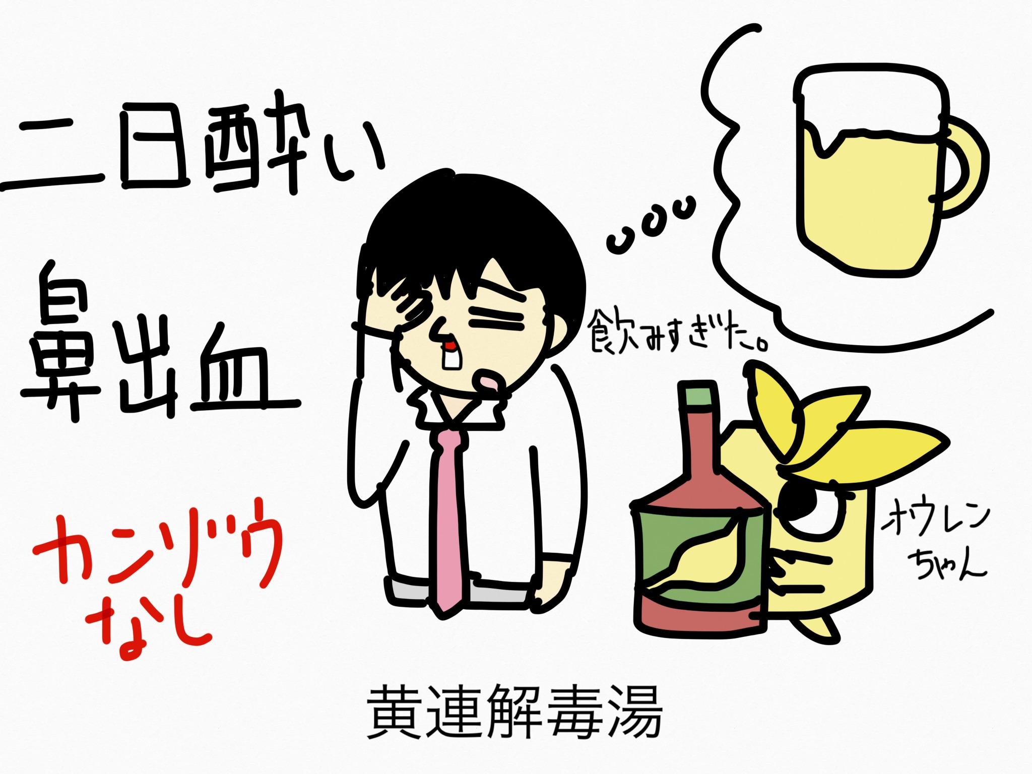 黄連解毒湯(おうれんげどくとう)[二日酔い]【漢方の覚え方】