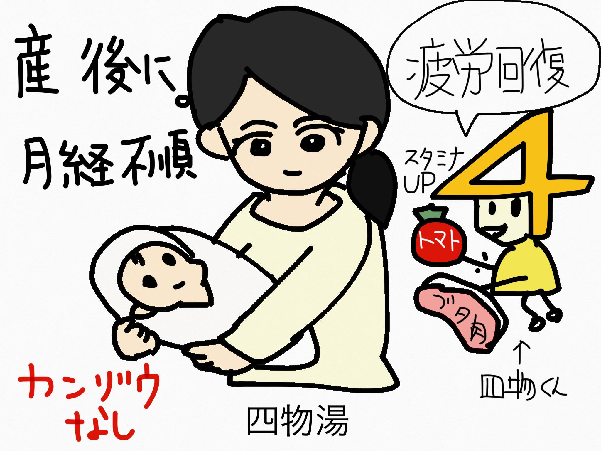 四物湯(しもつとう)[月経に伴う症状]【漢方の覚え方】