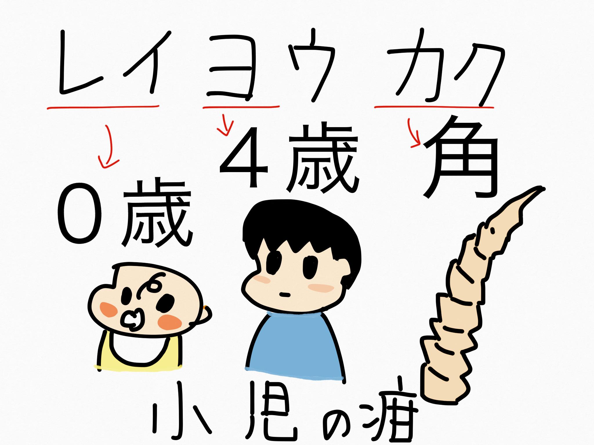 レイヨウカク[小児鎮静薬他]生薬の覚え方・暗記方法・語呂合わせ